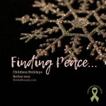 Photo of a gold snowflake on a black background on Childless Holidays 2019: Finding Peace... on Not So Mommy..., a childless blog