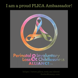 Photo of the Perinatal Loss & Involuntary Childlessness Alliance Logo on Not So Mommy..., an infertility & childless not by choice blog