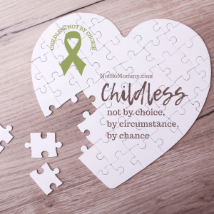 Photo of a puzzle in the shape of a heart on Childless Not By Choice Resources on Not So Mommy..., an infertility & childless blog