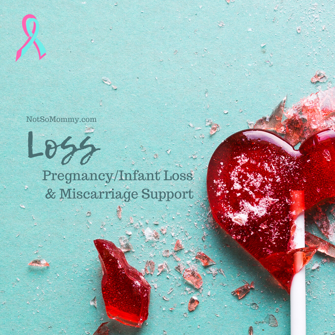 Photo of a shattered heart lollipop on Loss Resources: Pregnancy/Infant Loss & Miscarriage Support on Not So Mommy..., an infertility & childless blog