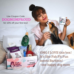 Photo of Dog Mom and Fur Baby with Pup Mom Crate on Not So Mommy..., a childless & dog mom blog