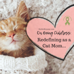 "Photo of a sleeping kitten wearing a white sweater on ""On Being Childless: Redefining as a Cat Mom..."" on Not So Mommy..., an infertility & childless blog"
