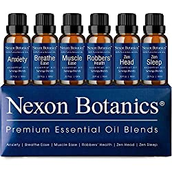 Photo of Nexon Botanics Premium Essential Oils Blends, available through The Not So Mommy... Shop for Health and Wellness