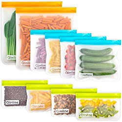 Photo of reusable, BPA-free storage bags available through The Not So Mommy... Shop