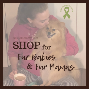 Photo of Brandi Lytle, founder of Not So Mommy..., with her fur baby, Maddie, on Shop for Fur Babies & Fur Mamas on Not So Mommy...