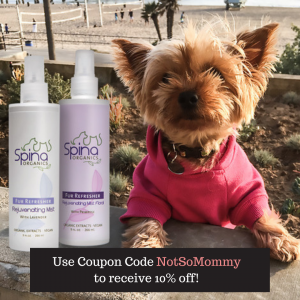 Spina Organics Dog and Cat Grooming Products available through The Not So Mommy... Shop for Fur Babies and Fur Mamas