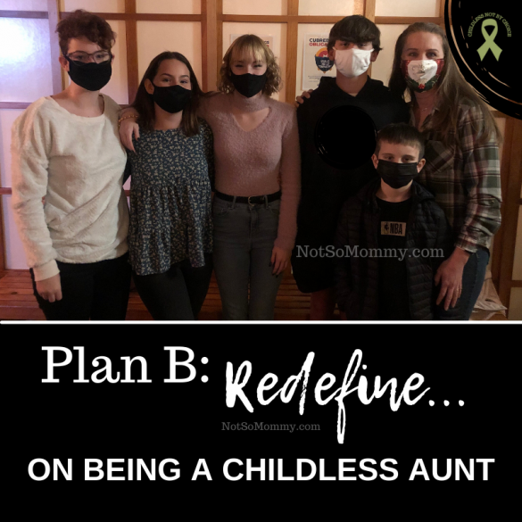 Photo of Brandi Lytle, founder of Not So Mommy..., with her nieces and nephews on Plan B: Redefine... On Being a Childless Aunt