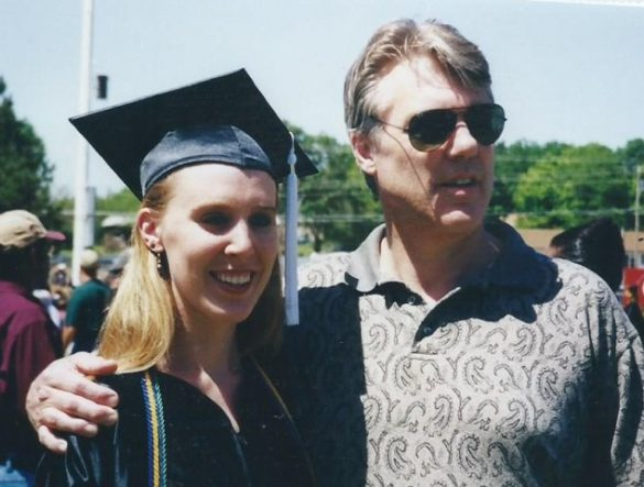 Photo of Brandi and her dad at her college graduation on Photo Gallery on Not So Mommy...