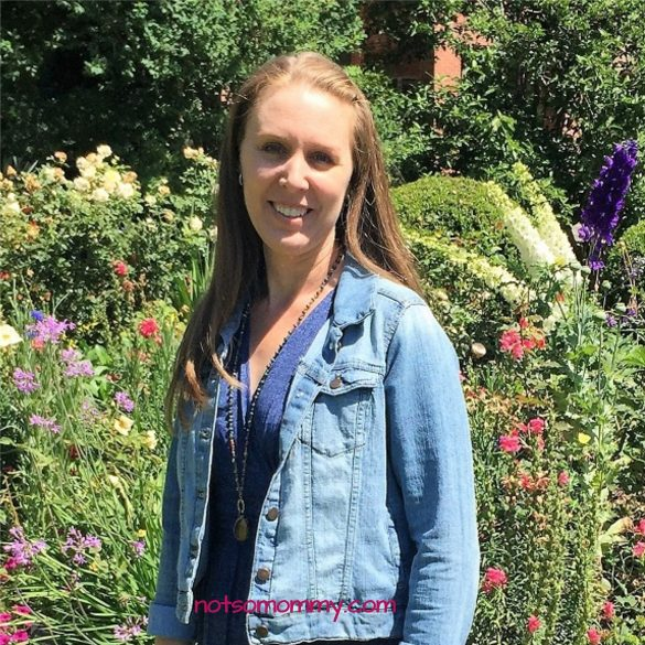 Photo of Brandi Lytle, founder of Not So Mommy, in Spring Garden