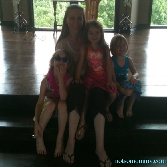 Photo of Tia Brandi with her three nieces on Not So Mommy More than an Aunt Blog