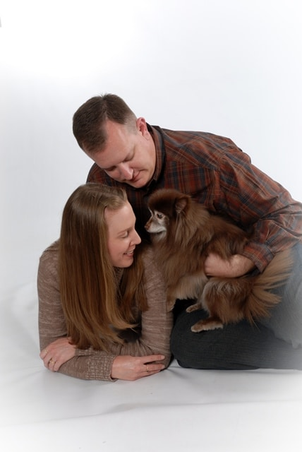 Family Photo with Valentine on Good Things: Puppies, Dogs, Fur Babies on Not So Mommy... Blog