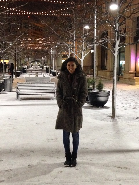 Photo of Bruna in her first snow on Not So Mommy... Photo Gallery