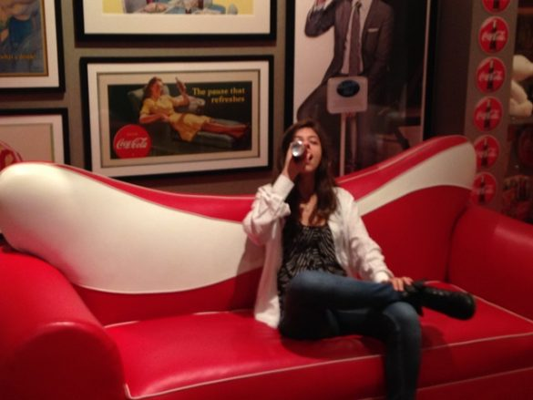 Photo of Bruna in the Coca-Cola Living Room at the Coca-Cola Factory in Atlanta on Not So Mommy... Photo Gallery