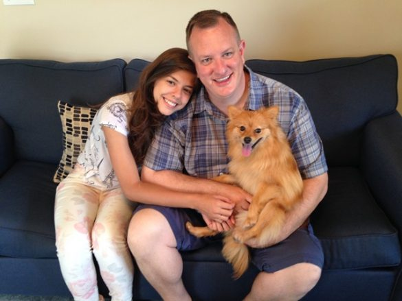 Photo of Dane, Bruna, & Maddie on Father's Day on Host Family, Just Family: Redefining Momhood on Host Mom / Infertility Blog on Not So Mommy...
