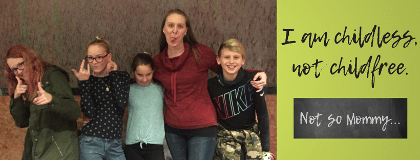 """Photo of Brandi Lytle, founder and owner of Not So Mommy..., with her nieces and nephews on """"The Power in Being a Childless Aunt"""" on Not So Mommy... Aunt Blogs"""