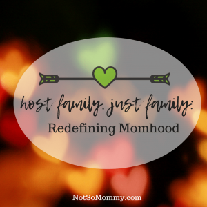 Photo of different colored hearts, slightly blurry against a black background on Host Family, Just Family: Redefining Momhood Host Mom / Childless Blog on Not So Mommy...