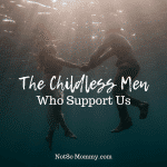 Photo of a man and woman swimming and holding hands with sunlight shining through the water on The Childless Men Who Support Us on Not So Mommy...