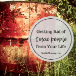 Photo of a red barrel trashcan in a field on Getting Rid of Toxic People in Your Life on Uniquely Me / Infertility / Childless Blog on Not So Mommy...