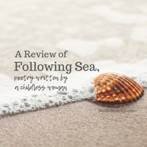 """Photo of a single seashell on the beach on """"A Review of Following Sea, poetry by a childless woman,"""" on Not So Mommy..., a childless blog"""