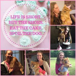 """Photo of Maddie's first 5 birthdays on """"Redefining May as a Childless Woman,"""" on Not So Mommy..., a childless blog"""