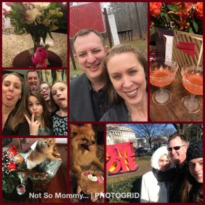 Photo Collage of Valentine's Celebrations as a Childless Couple on Not So Mommy..., a childless blog