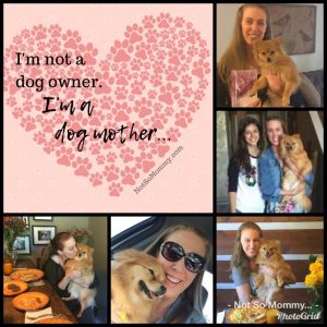 Photo collage of Brandi Lytle, founder of Not So Mommy..., celebrating Mother's Day with her fur baby, Maddie on Redefining May by Redefining Momhood, a childless blog