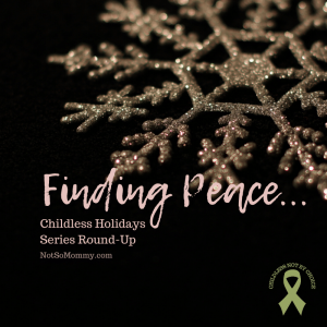 Photo of a gold snowflake on a black background on Finding Peace in Childlessness: Series Round-Up on Not So Mommy..., a childless blog