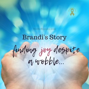 Photo of hands holding a bright ball of light on Brandi's Story: Finding Joy Despite a Wobble . . . , on Not So Mommy..., a childless blog