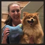 Photo of Brandi Lytle, found of Not So Mommy..., with her fur baby, Maddie, on Not So Mommy..., an infertility, childless not by choice, and dog mom blog