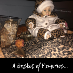 Photo of the basket in our black piece which holds special memories on Not So Mommy..., a childless blog