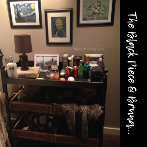 """Photo of """"The Black Piece,"""" a special piece of furniture that we have redefined, on Not So Mommy..., a childless blog"""