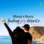 "Photo of Missy and her husband on ""Missy's Story of Finding Joy Despite,"" on Not So Mommy..., an infertility & childless blog"