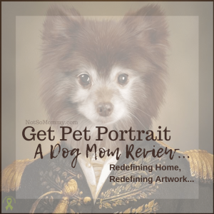 """Photo of Valentine's Get Pet Portrait on """"Get Pet Portrait: A Dog Mom Review..."""" Not So Mommy..., an infertility, childless, dog mom blog"""