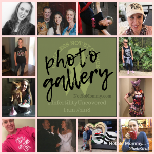 Photo Collage of Brandi Lytle, founder of Not So Mommy..., an infertility & childless blog
