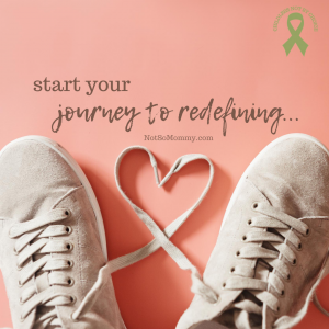 """Photo of untied tennis shoes with laces in shape of heart on """"Start Your Journey to Redefining..."""" on Not So Mommy..., an infertility & childless blog"""