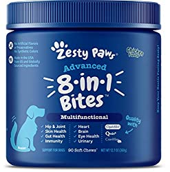 Zesty Paws Multivitamin for Dogs available at The Not So Mommy... Shop, a childless dog mom blog