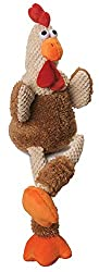 Photo of goDog Skinny Rooster Plush Dog Toy with Chew Guard available through The Not So Mommy... Shop for Fur Babies and Fur Mamas