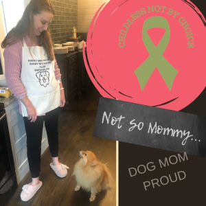 Photo of Brandi Lytle, founder of Not So Mommy..., with her fur baby, Maddie, on Let's Scribble Outside the Lines on Not So Mommy..., an infertility & childless blog