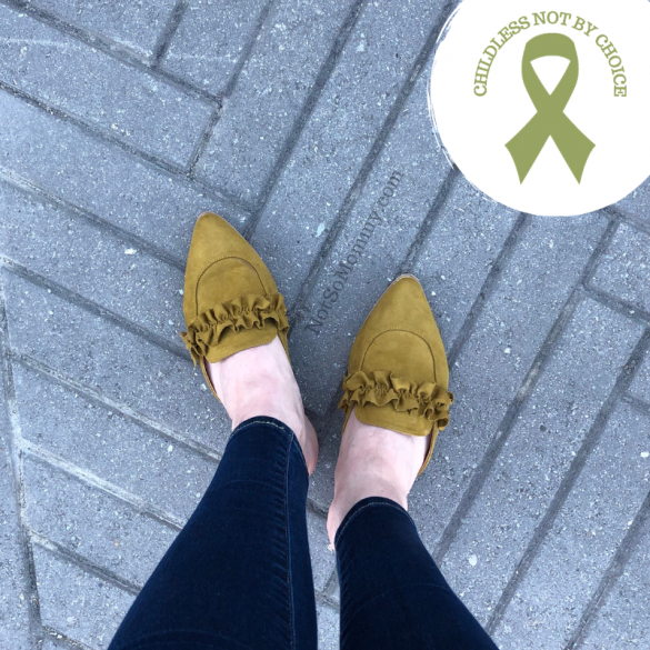 Photo of chartreuse green shoes on Not So Mommy..., an infertility and childless blog