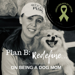 Photo of Brandi Lytle, founder of Not So Mommy..., with her fur baby on Plan B: Redefine... On Being a Dog Mom