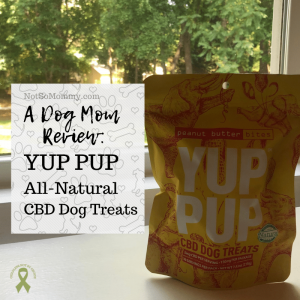 """Photo of YUP PUP CBD Dog Treats on """"A Dog Mom Review: YUP PUP"""" on Not So Mommy..., an infertility, childless, dog mom blog"""