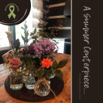 Photo of a summer centerpiece collection of flowers on Not So Mommy..., an infertility & childless blog
